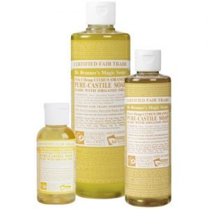 Dr Bronner's magic liquid soap citrus orange 236ml EKO flyt