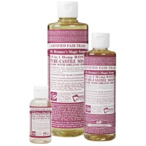 Dr Bronner's magic liquid soap rose 473ml EKO flytande