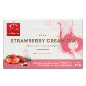 Khoisan Strawberry cream te koffeinfri 20p KRAV