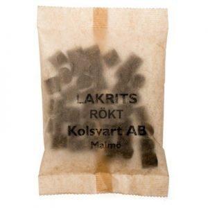Lakrits Kolsvart Rökt 100g