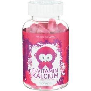 Monkids D-vitamin + kalcium 60st
