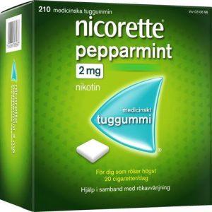 Nicorette Mentolmint, medicinskt tuggummi 2 mg 210 st