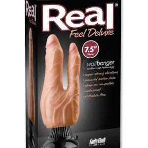 REAL FEEL DELUXE 8 FLESH - Dubbel dildo glädje Vagina & anus