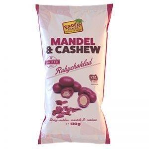 Rubychoklad Mandel & Cashewnötter - 38% rabatt