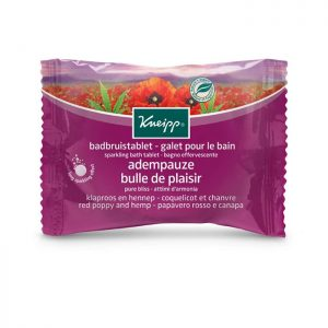 Sparkling Bath Tablet Red Poppy & Hemp 80g