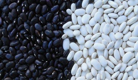 Svarta och vita bönor