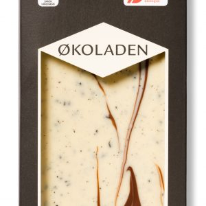 Ã?koladen Vit choklad med lakrits - 75 G