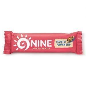 9NINE bar Peanut & Græskar - 40 G
