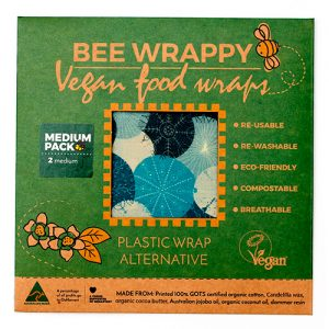 Bee Wrappy Vegan Food Wraps - 2 X Medium - 1 Förp