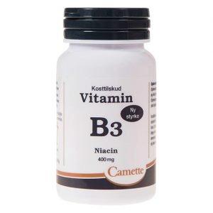 Camette B3 Vitamin Niacin 400mg - 90 Tabl