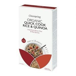Clear Spring Quick Cook Brunt Ris Quinoa Ekologisk - 250 Gram