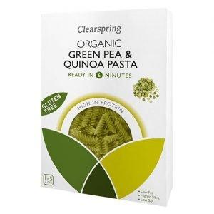 Clearspring Gluten Free Green Pea & Quinoa Pasta Fusilli Eko - 250 Gram