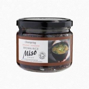 Clearspring Miso Brown Rice I Glas Opastöriserat Eko - 300 Gram