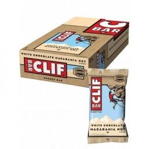 Clif Bar Macadamianötter & Vit choklad - 68 Gram - 12 Bare