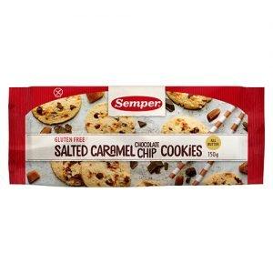 Cookies m. saltet karamel & chokolade glutenfri - 150 G