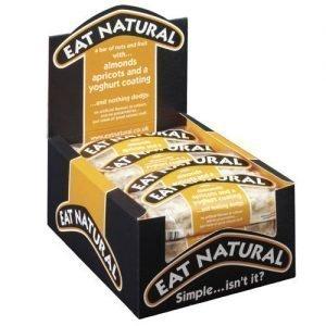 Eat Natural Mandel & Aprikosbar Med Youghurtöverdrag - 12 Bare - 12 Gram