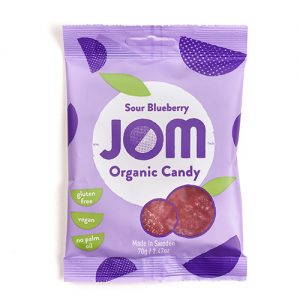 Jom Organic Candy Sour Blueberry - 70 G