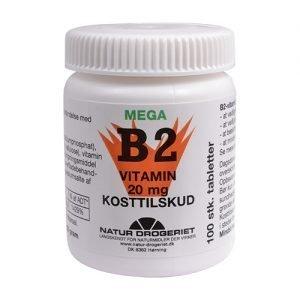 Natur Drogeriet Mega Vitamin B2 20 Mg - 100 Tabl