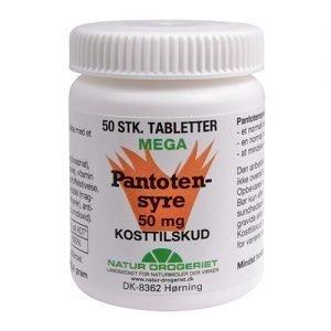 Natur-Drogeriet Pantotensyre 50 Mg - 50 Tabl