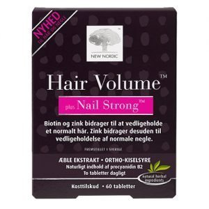 New Nordic Hair Volume + Nails Strong - 60 Tabl