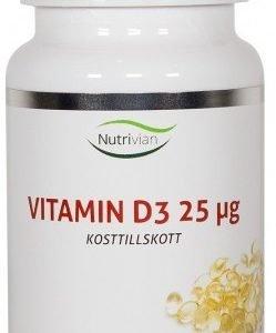 Nutrivian Vitamin D3 25 ?g 100 kapslar