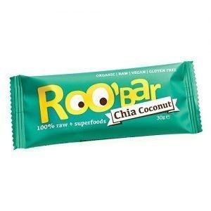 ROO bar Bar Chia Kokosnød Ã? Roobar 100% Raw - 30 G