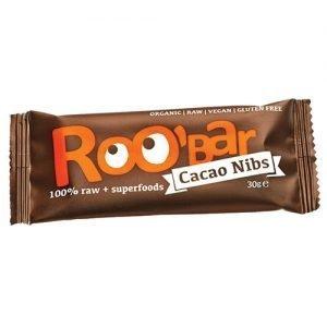 ROO bar Bar Kakao Nibs Ã? Roobar 100% Raw - 30 G