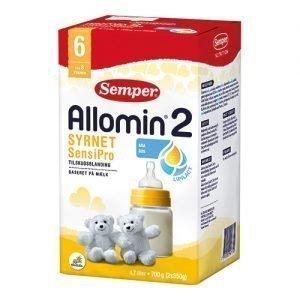 Semper Allomin 2 syrnet sensipro tilskudsblanding fra 6 mdr - 700 G