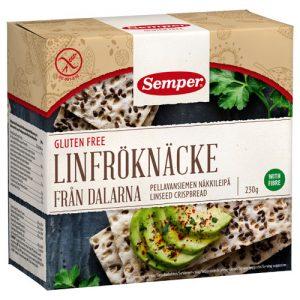 Semper Knäckebröd Linfrö Glutenfri - 230 G