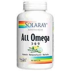 Solaray All Omega 3-6-9 - 90 Kaps