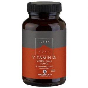 Terranova Vitamin D3 2000 IU - 50 Kaps