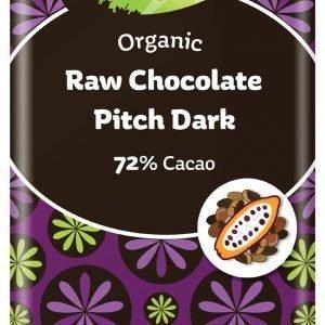 The Raw Choklad Co Pitch Dark Raw Chocolate 72% Fairtrade Eko - 1 Bar - 44 Gram