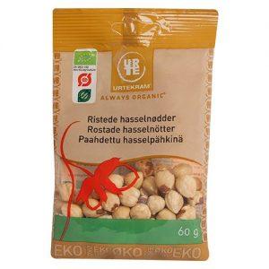 Urtekram Hasselnötter Rostade Eko - 60 Gram