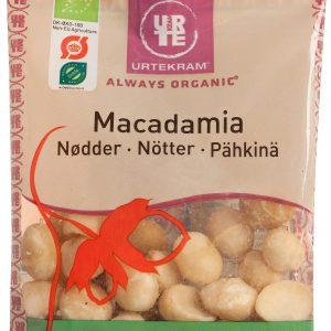 Urtekram Macadamianötter Med Havssalt Eko - 65 Gram