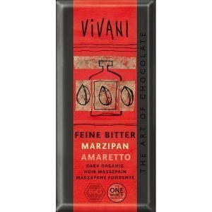 Vivani Mörk Marsipan Amaretto Ekologisk - 100 Gram