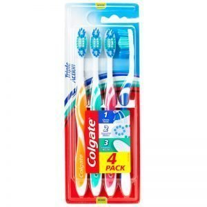 Colgate Triple Action Tandborste 4-pack - 29% rabatt