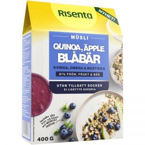 Eko Müsli Quinoa, blåbär & äpple - 35% rabatt