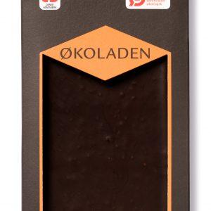Økoladen Chokolade mørk orange/knas Ø 72% - 75 G