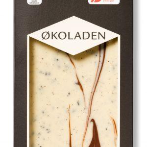 Økoladen Vit choklad med lakrits - 75 G