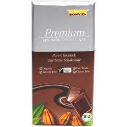 Chokolade mørk 71% cacao Ø Fairtrade - 100 G