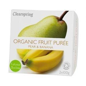 Clearspring Frugtpuré Banan, Pære Ø - 200 G