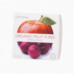 Clearspring Fruktpuré m. Äpple och Plommon - 2 Gram