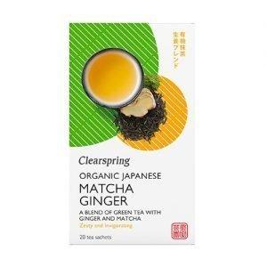 Clearspring Matcha Ginger Te Ø - 36 G