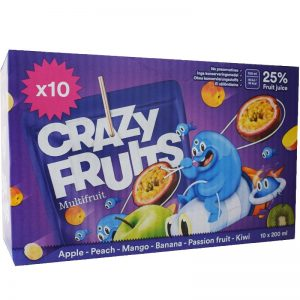 Crazy Fruits Multifruit 10 x 20cl - 37% rabatt