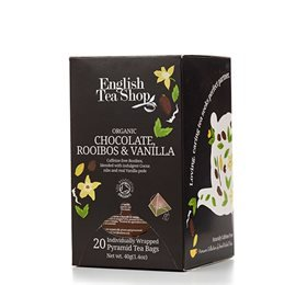 English Tea Shop Chocolate, Rooibos & Vanilla Te Ø - 20 Påse