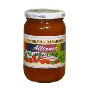 Jordbær/rabarber marmelade Ø - 400 G