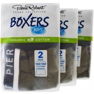 Kalsonger Boxers Barn 134-140 Khaki & mörkblå 6-pack - 57% rabatt