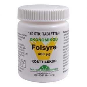 Natur Drogeriet Folsyre Økonomikøb 400 ?g - 180 Tabl