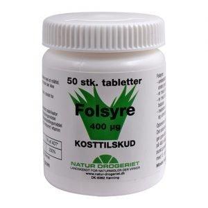 Natur-Drogeriet Folsyre 400 ?g B9 - 50 Tabl