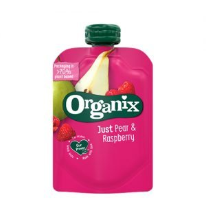 Organix Babymos Pære & Hindbær Ø - 100 G